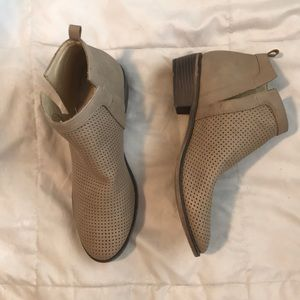 Restricted ankle booties cutout size 8